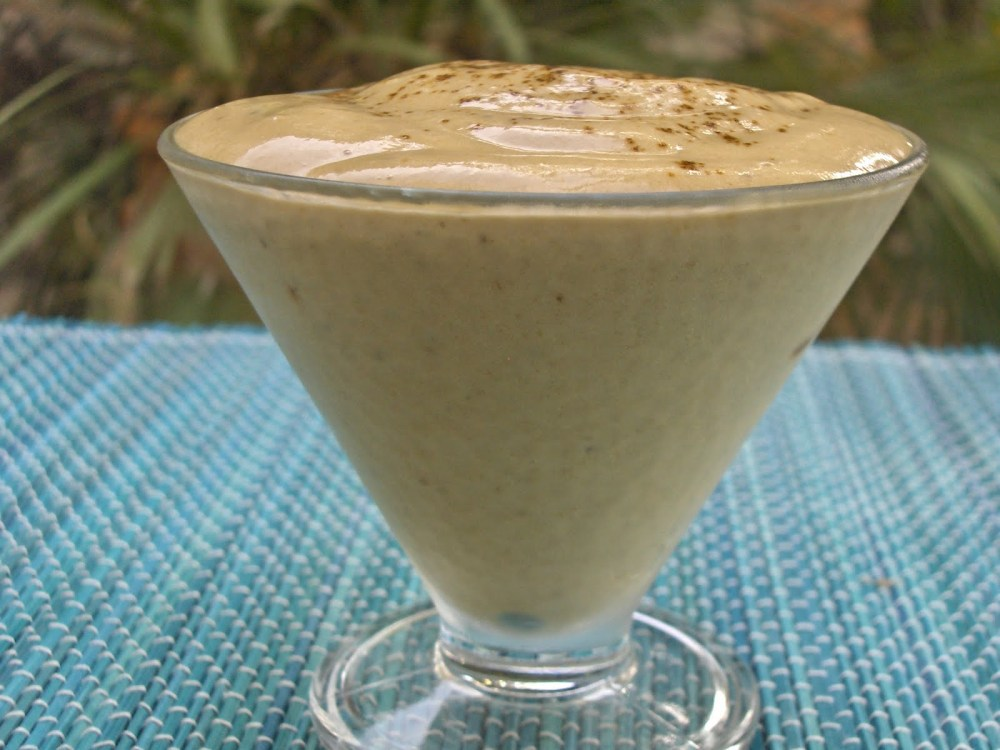 Banana Coffee Mousse -- Dairyless, Sugarless, Eggless