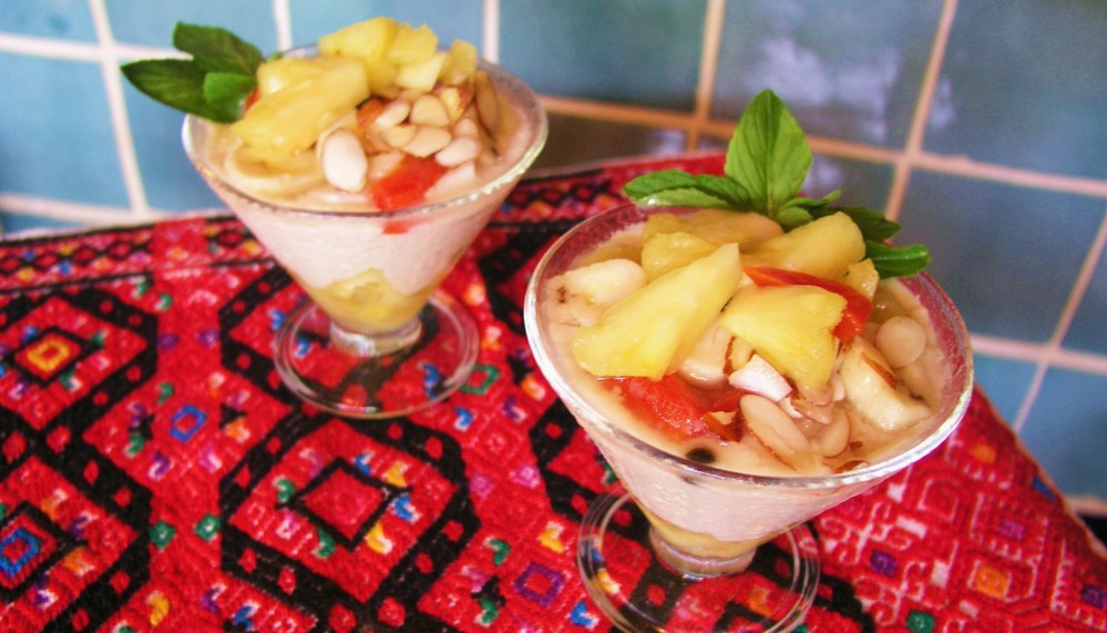 Almond Cream with Tropical Fruit (4/4)